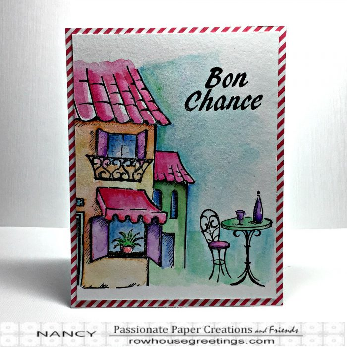 Rowhouse Greetings | A Little Bit Scenic - French 50s Cafe by Crafter's Companion