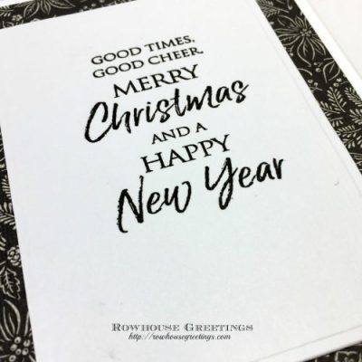 Rowhouse Greetings | Festive Cheer by Penny Black