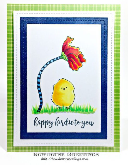 Rowhouse Greetings | Happy Birdie by RubberMoon Stamps