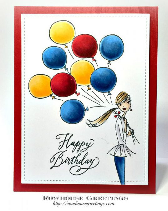 Rowhouse Greetings | Birthday Ballons by Penny Black