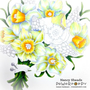 Rowhouse Greetings | Daffodil Bouquet by Power Poppy