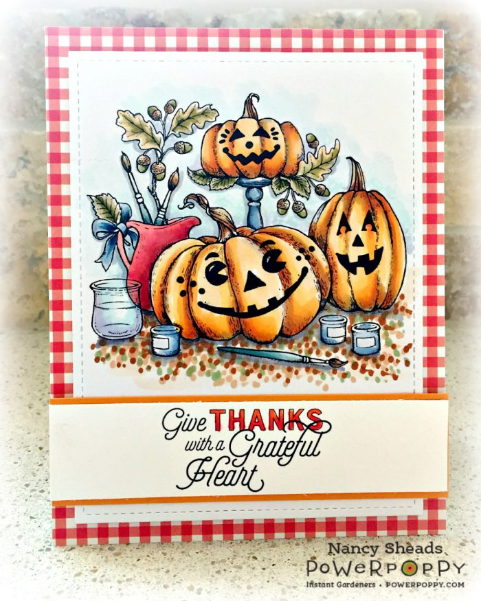 Rowhouse Greetings   Painting Pumpkins by Power Poppy
