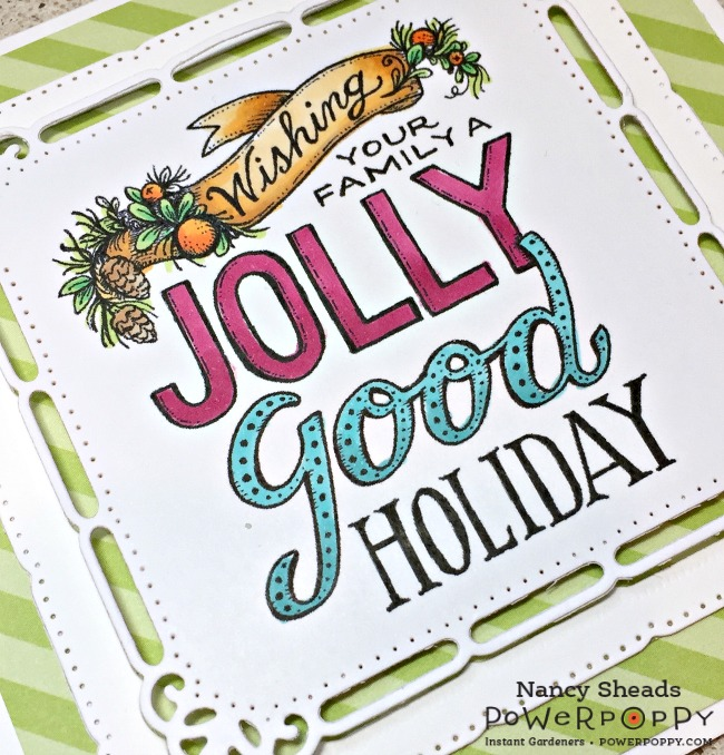 Rowhouse Greetings | Hand Lettered Jolly Good by Power Poppy