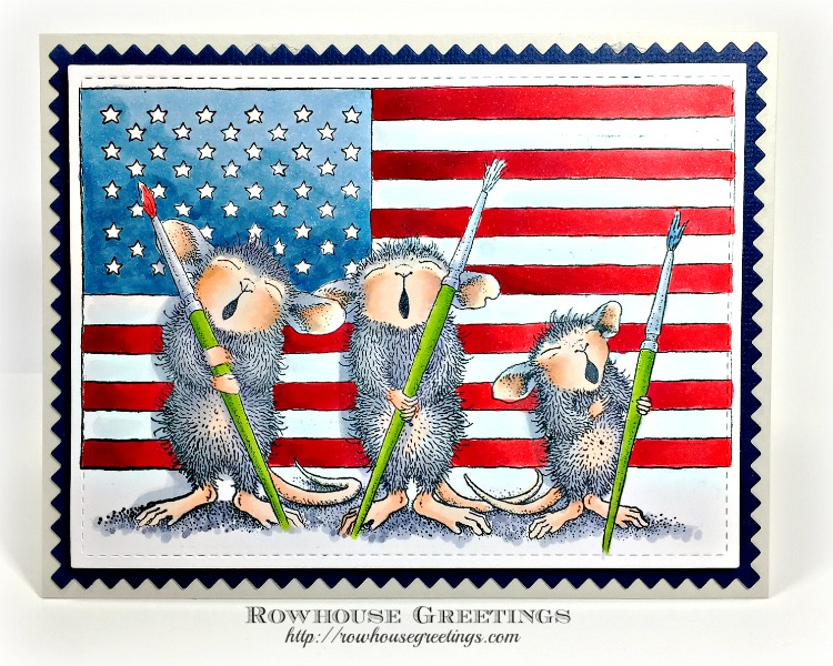 Rowhouse Greetings   Patriotic Painters by House Mouse Designs (Stampendous!)