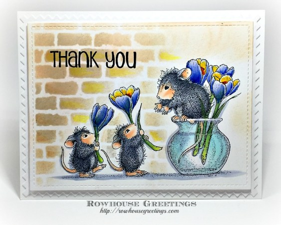 Rowhouse Greetings | Floral Arranging by Stampendous for House Mouse Designs