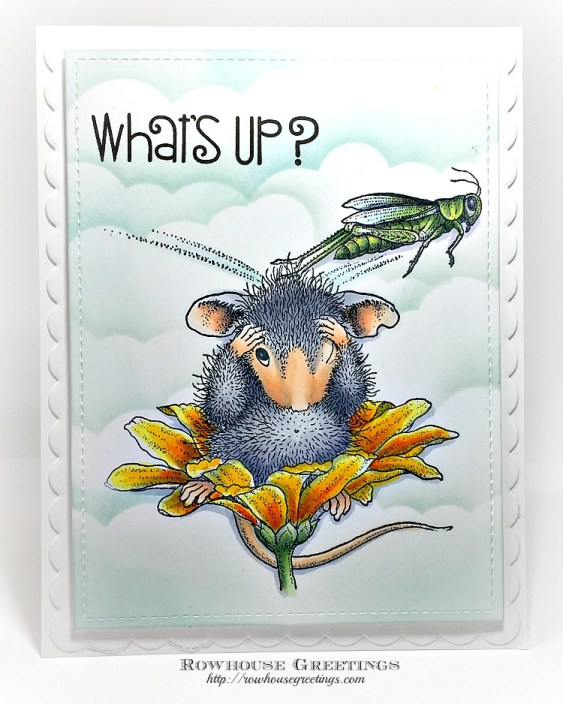 Rowhouse Greetings | Grasshopper Leap by Stampendous for House Mouse Designs