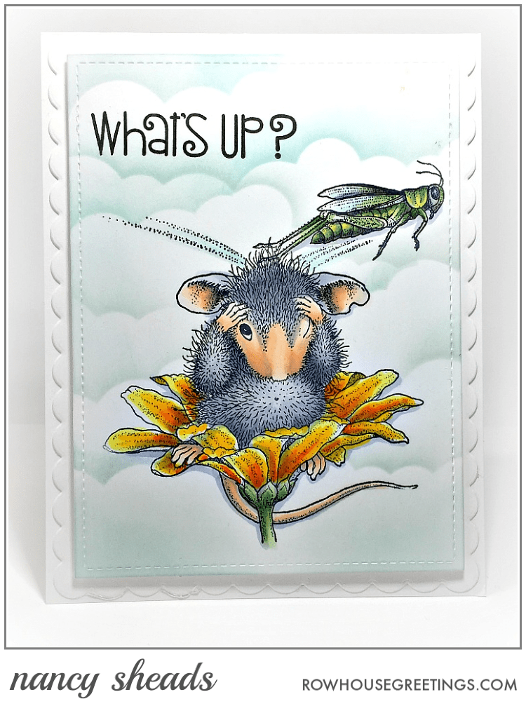 Rowhouse Greetings   Grasshopper Leap by House Mouse Designs for Stampendous!
