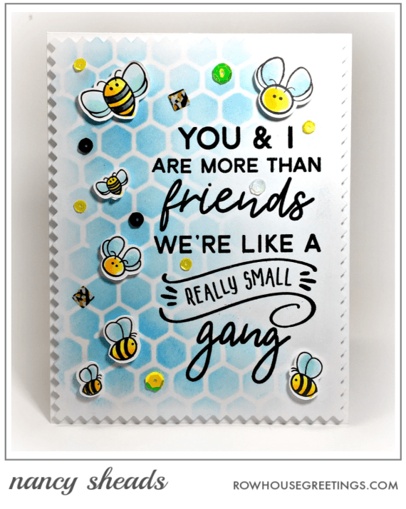 Rowhouse Greetings | Busy Bees and Bee Hive by Honey Bee Stamps