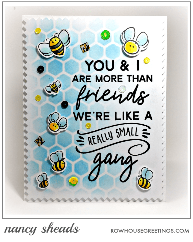 Rowhouse Greetings   Busy Bees and Bee Hive by Honey Bee Stamps