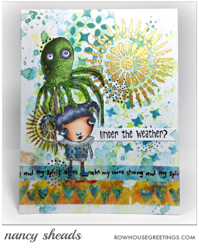 Rowhouse Greetings | Squidbrella by RubberMoon Stamps