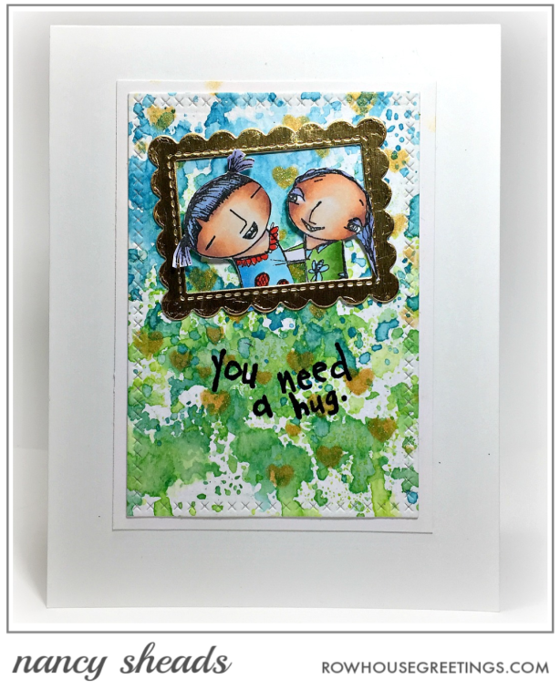 Rowhouse Greetings | BFFs by RubberMoon Stamps