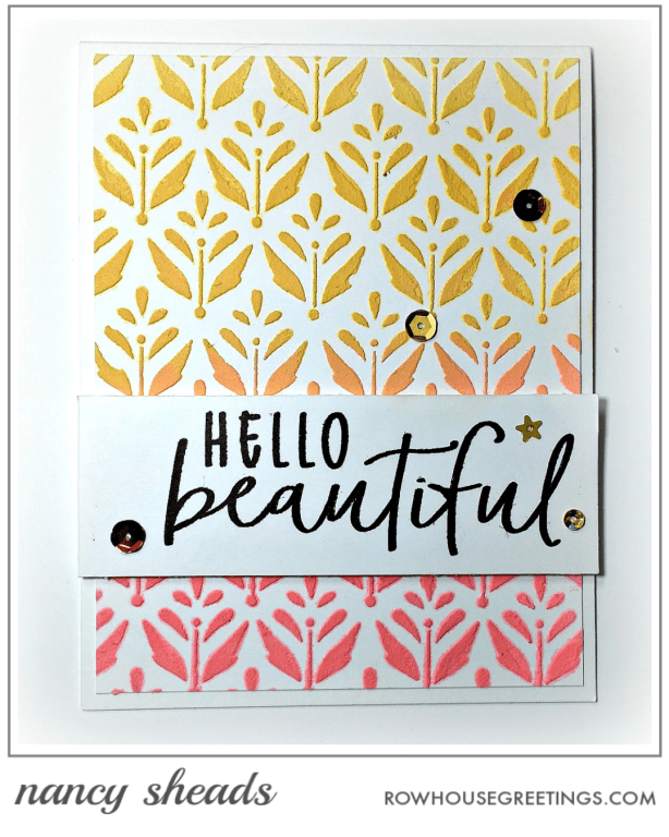 Rowhouse Greetings | Thanks A Bunch by Honey Bee Stamps | Summertime Bloom by Echo Park Paper Co.
