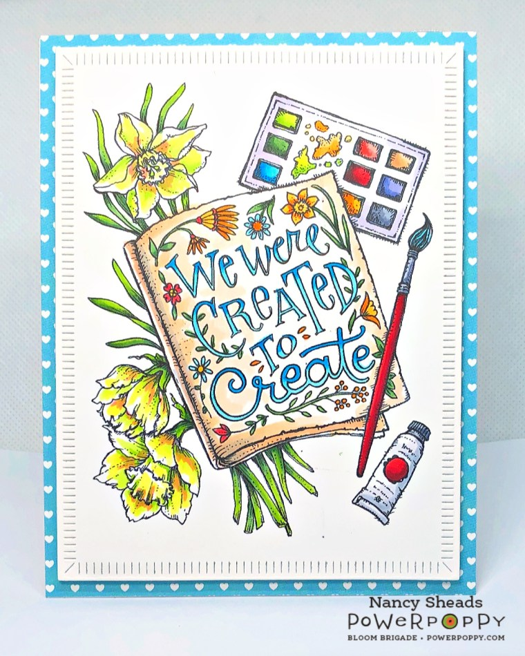 Rowhouse Greetings   Created to Create by Power Poppy