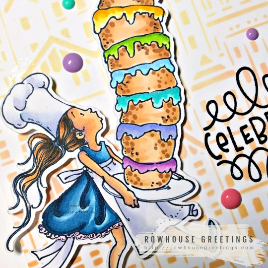 Rowhouse Greetings | Tall Cake by Mo's Digital Pencil