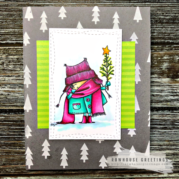 Rowhouse Greetings | With Tree by Mo's Digital Pencil