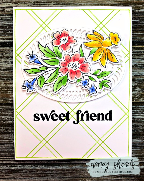Rowhouse Greetings | Happy Blooms Florals by PinkFresh Studio