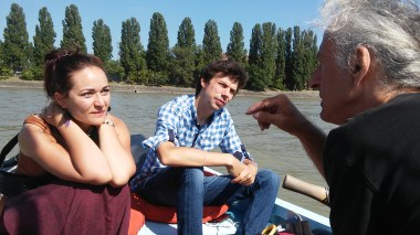 Talk on the boat in Budapest with Anastasia (Ukraine) and Barna (Hungary)