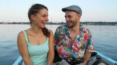 Guests on the boat: Andreea and Irlo, two artists from Romania. Irlo is one of the best known Romanian street artists.