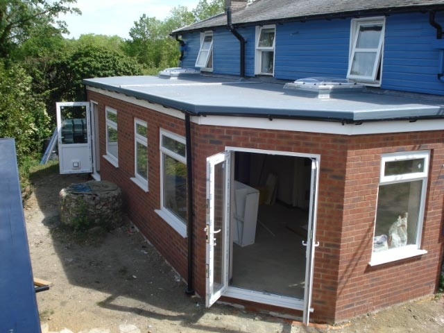 HH Extension Firbre Glass roof on