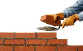 Picture of someone laying bricks