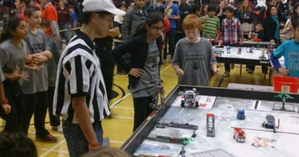 RMS students in a Robotics competition