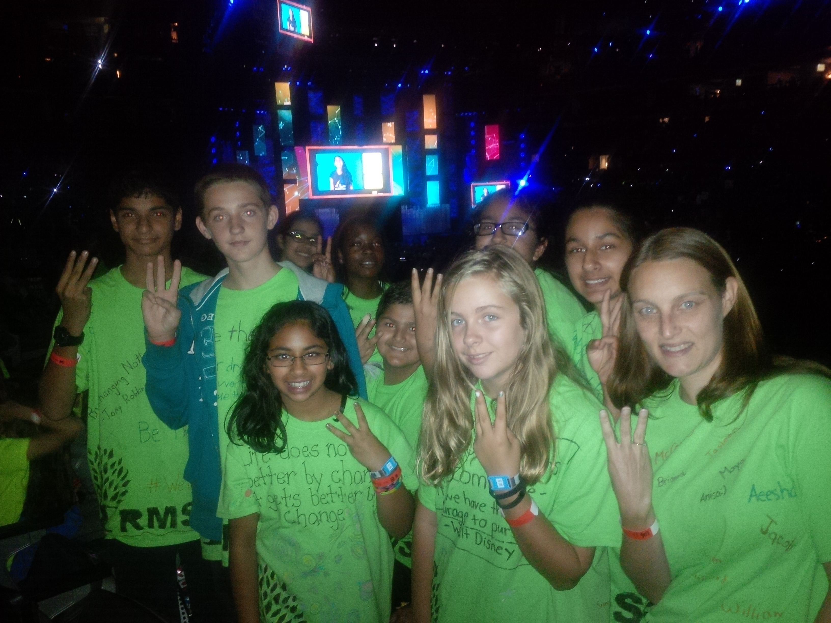 RMS students attending WE Day Toronto