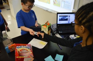 Students purchasing goods