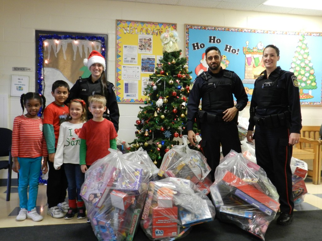 Peel Police Collecting the Toys for Tots