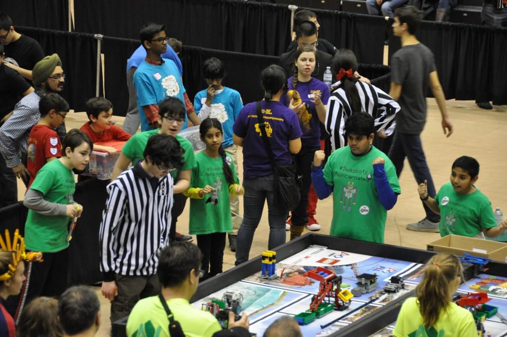 RMS Robotics team at Provincial Championship