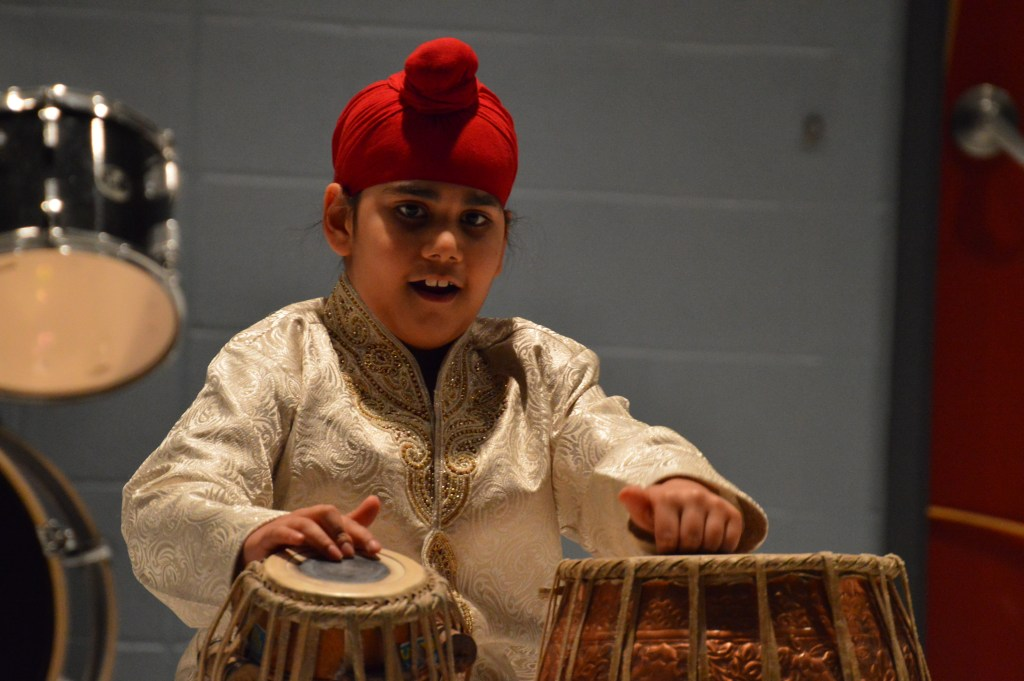 Performing Traditional Drumming