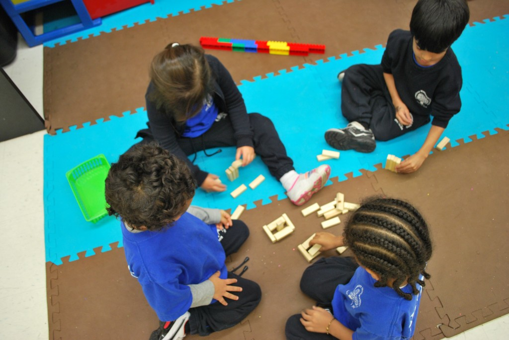 Students are learning the importance of strong structures at a young age