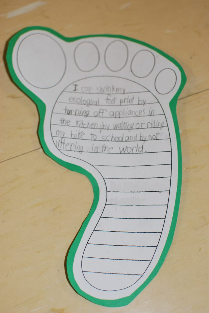 Each student created their own footprint