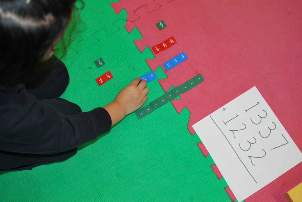 Visual and Kineasthetic aids to learning in the Montessori classroom