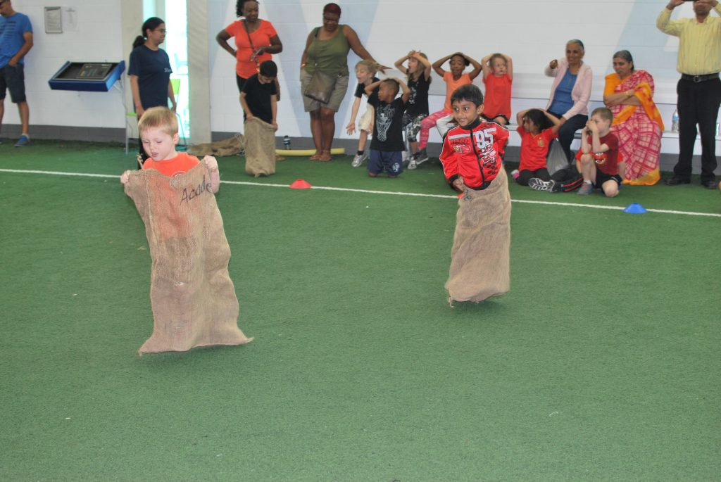 The traditional Sack Race