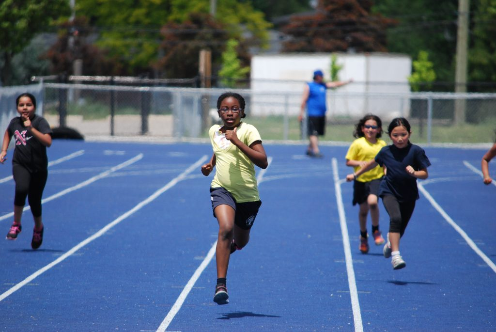 Running the 100 metre dash
