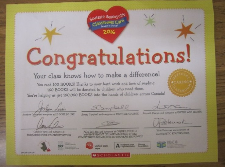 Certificate for Reading-Private School