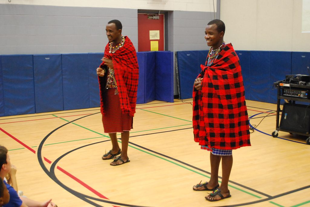 The Maasai warriors and WE ambassadors