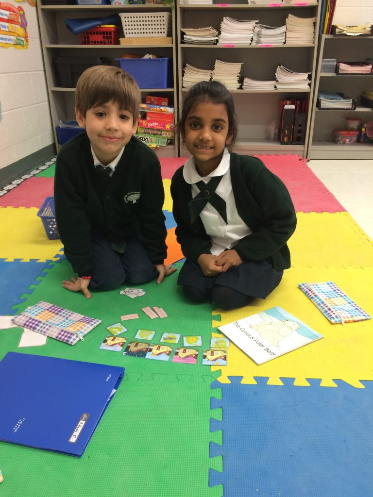 Working together in Literacy Centres to complete the tasks assigned