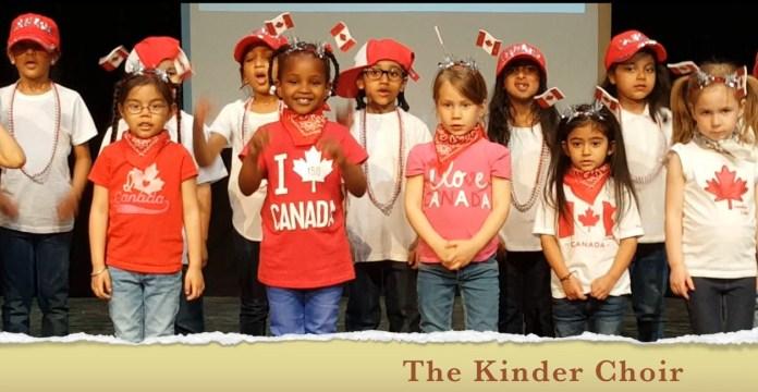 Students singing at RMS Spring Concert 2017 Private School Kindergarten Choir