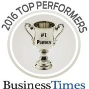 Logo for Top Performing Private School 2016 Business Times
