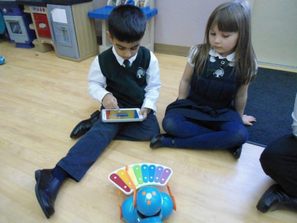 Dash and Dot robots being used by Kindergarten students at Rowntree Montessori Schools