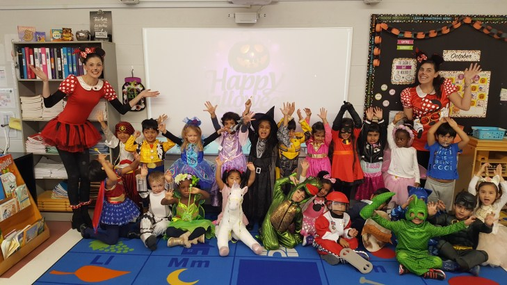 Students on Halloween at Academy Campus of Rowntree Montessori Schools private school in Brampton