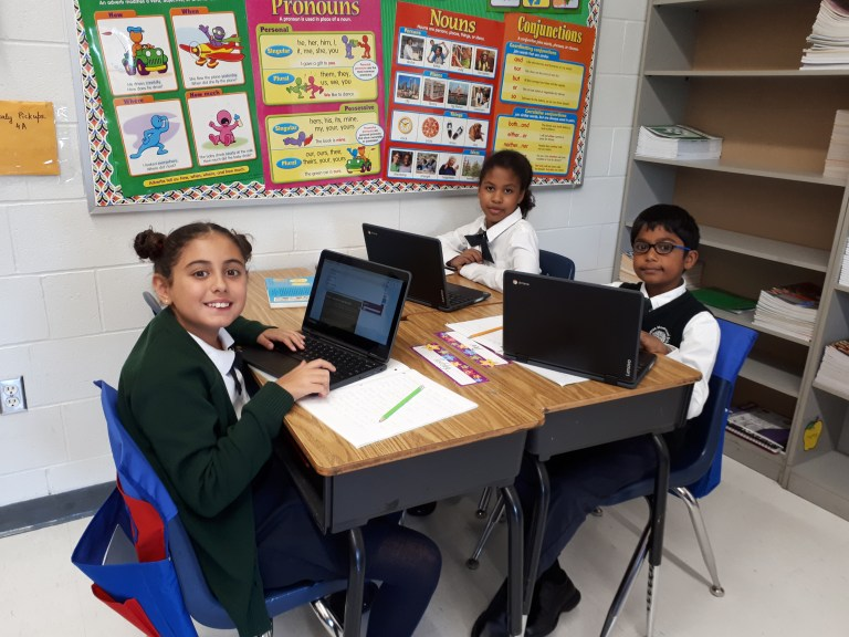 Students in group work at RMS Private School in Brampton-