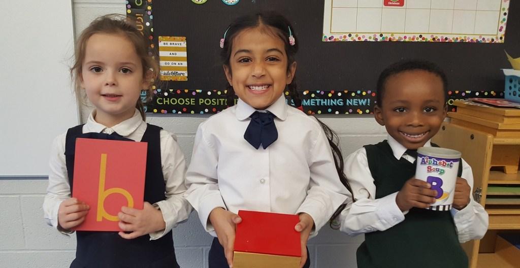Students in Kindergarten Montessori at Rowntree Montessori Schools