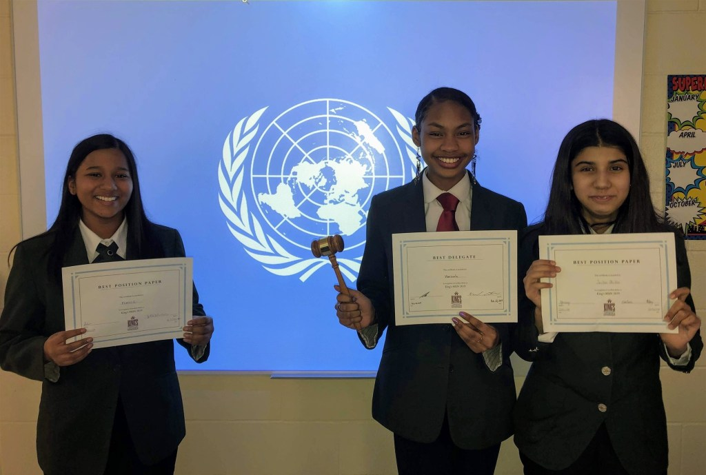 Students of RMS Brampton won multiple awards at Model United Nations conference in 2019.