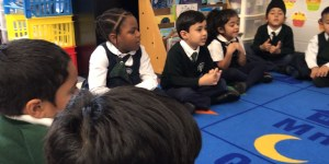 Kindergarten students having a discussion in Prep-ONE (SK)