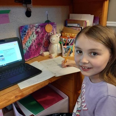 RMS student working remotely