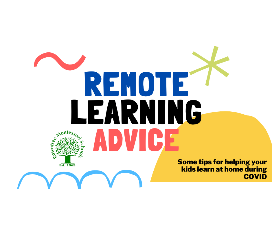 Remote Learning Advice graphic image