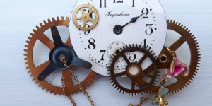 An image of clock faces