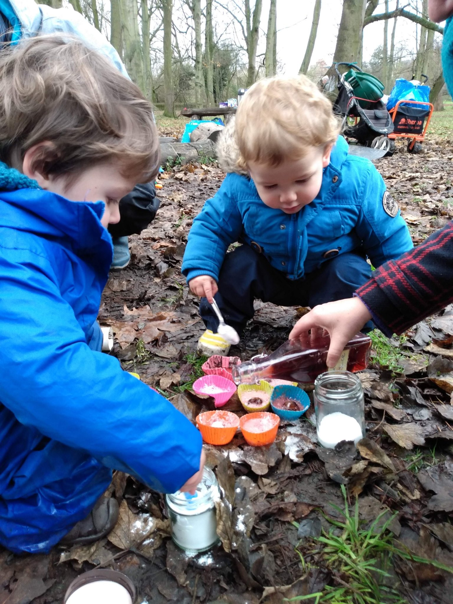 Rowntree Park York Forest School cooking